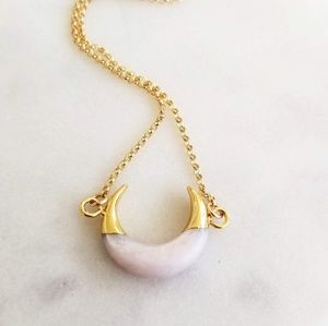 Crescent Moon Gold Filled Necklace